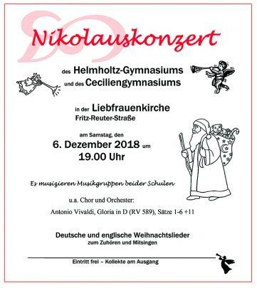 Weihnachtslieder In Englischer Sprache.Nikolauskonzert 2018